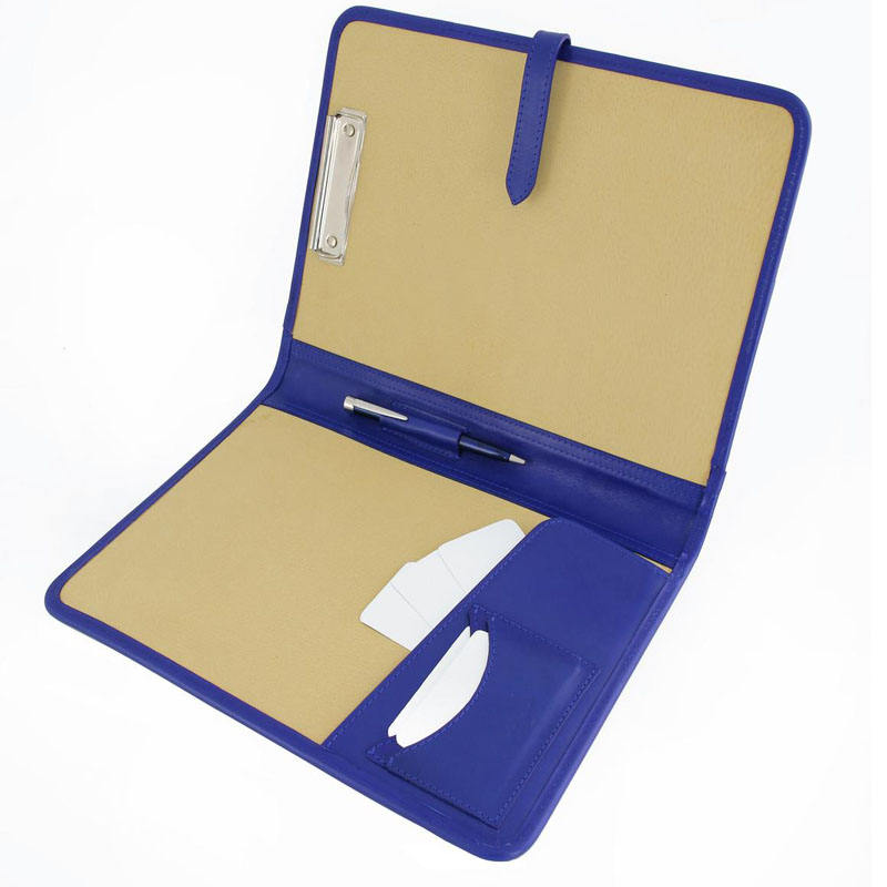 Leather Clipboard Business Portfolio Document Holder Conference Folder A4