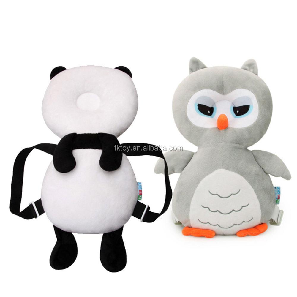 Пользовательские с мультяшной пандой для младенцев защиты головы Подушка шаги ребенка, чтобы помочь малыш плюшевые игрушки