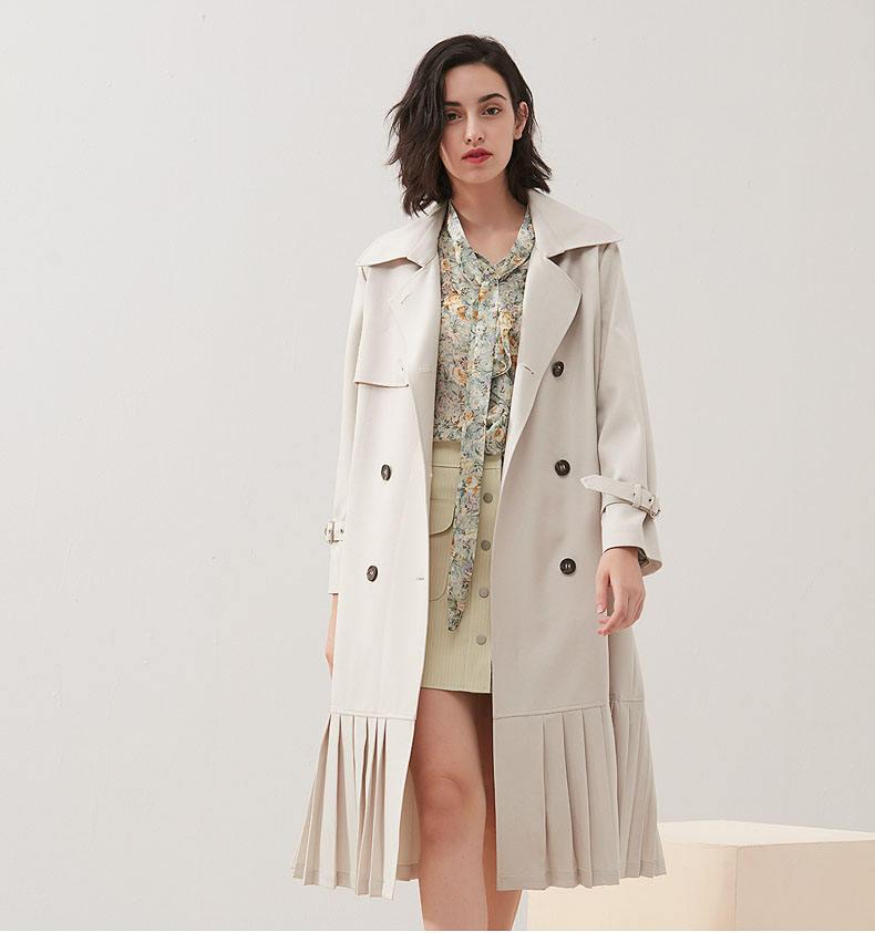 Mulheres de alta qualidade outono e inverno longo trincheira casaco grosso mulheres jaqueta de manga longa