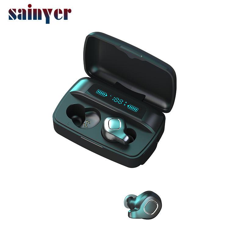F8 플러스 방수 블루투스 다이나믹 드라이버 이어폰 TWS 핸즈프리 듀얼 이어폰 충전 상자