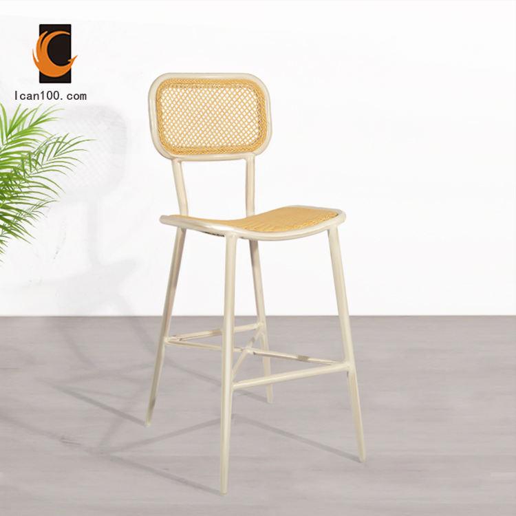 Diseño moderno nuevos productos al por mayor francés Silla <span class=keywords><strong>Ratan</strong></span> barra de Bar alta Silla taburete