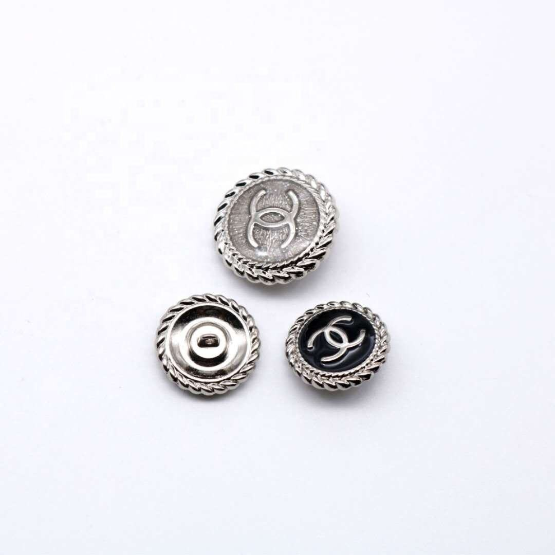 Brand custom diy new product brass gold fabric covered button brass button