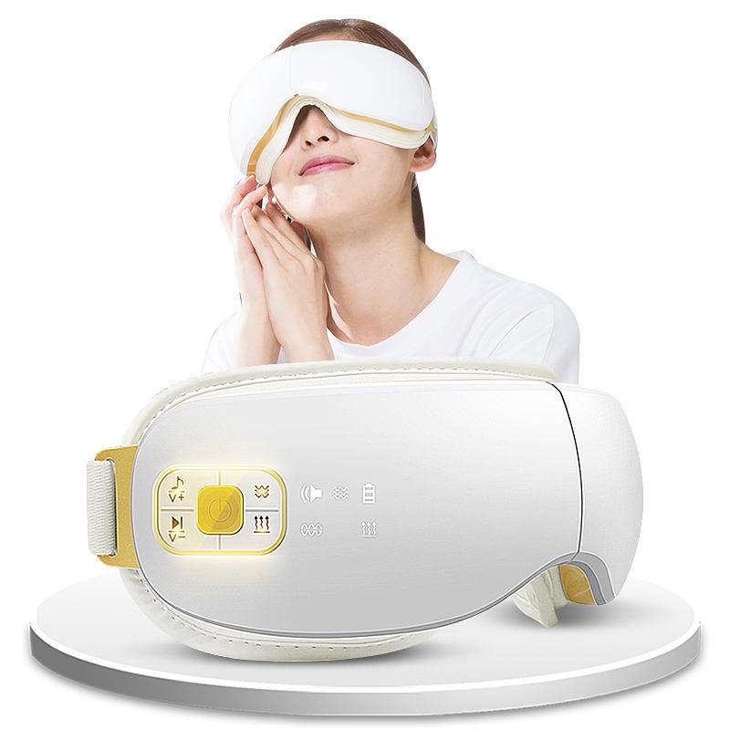 Masajeador para el cuidado de los ojos musical con calefacción por vibración y presión de aire para cabeza de <span class=keywords><strong>masaje</strong></span>