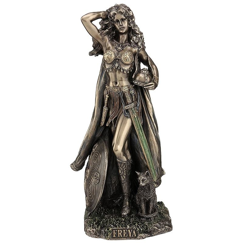 Amazing Detailed Handicraft Art Freya Norse Goddess of Love Beauty and Fertility Statue Sculpture Statuary Collectible