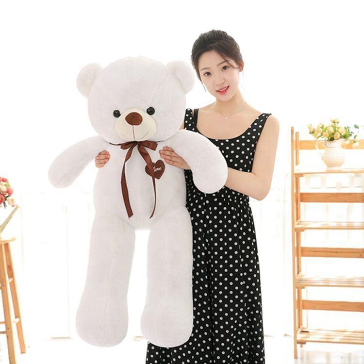 Nuovo stile regalo di san valentino orsacchiotto bianco big bow-knot orso giocattolo della peluche