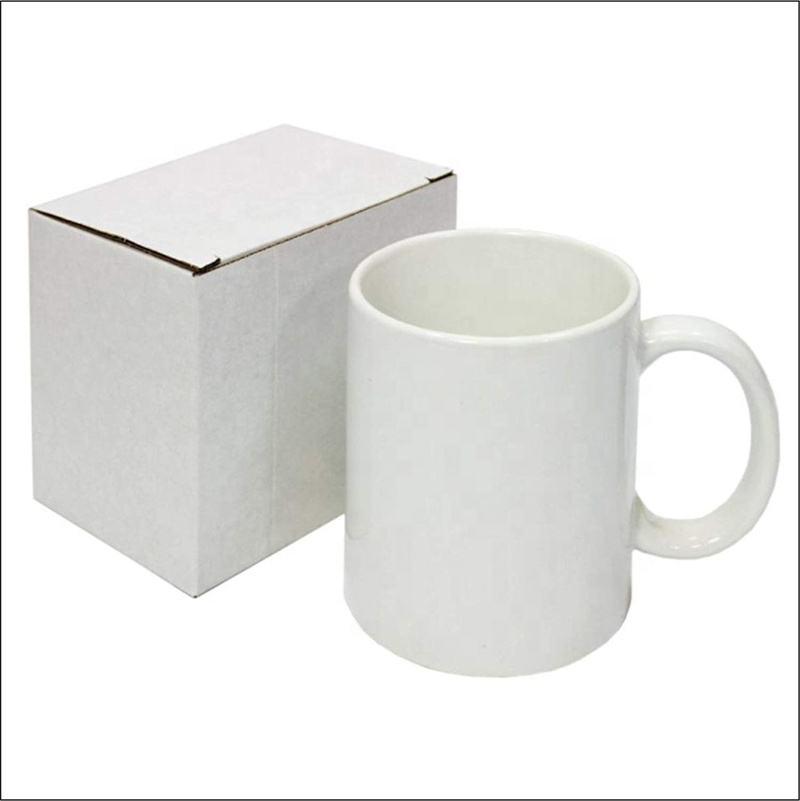 Çin Fabrika Özel Beyaz Porselen Seramik Kupa Bir Dolar Mağaza Kupa