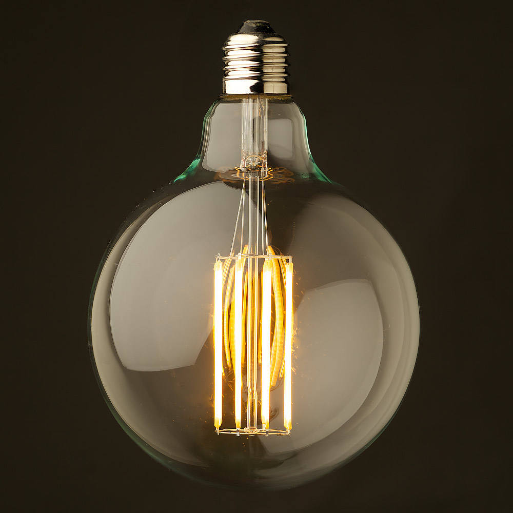 CE RoHS certificated high brightness E26 E27 LED Edison Bulb G125 LED filament bulb