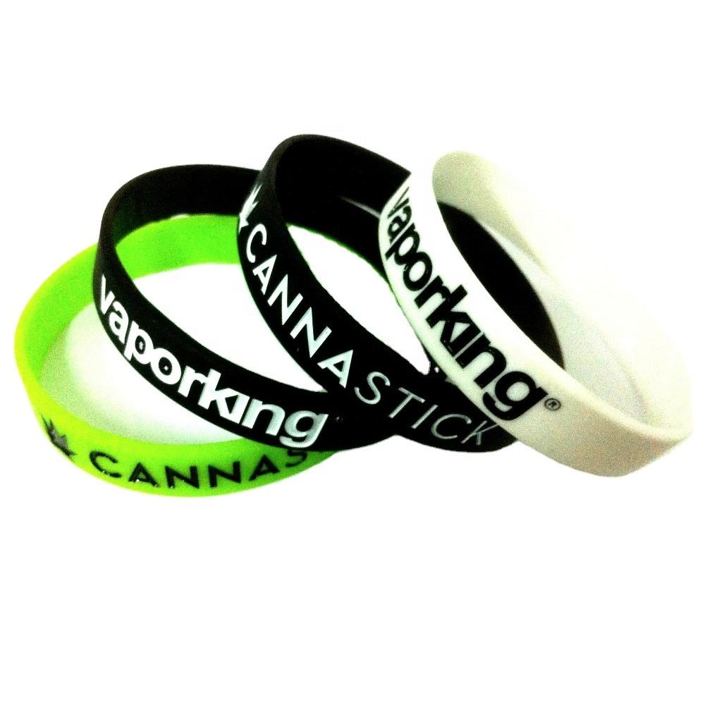 promotional rubber bracelet highly personalized silicon wristband custom silicone bracelet