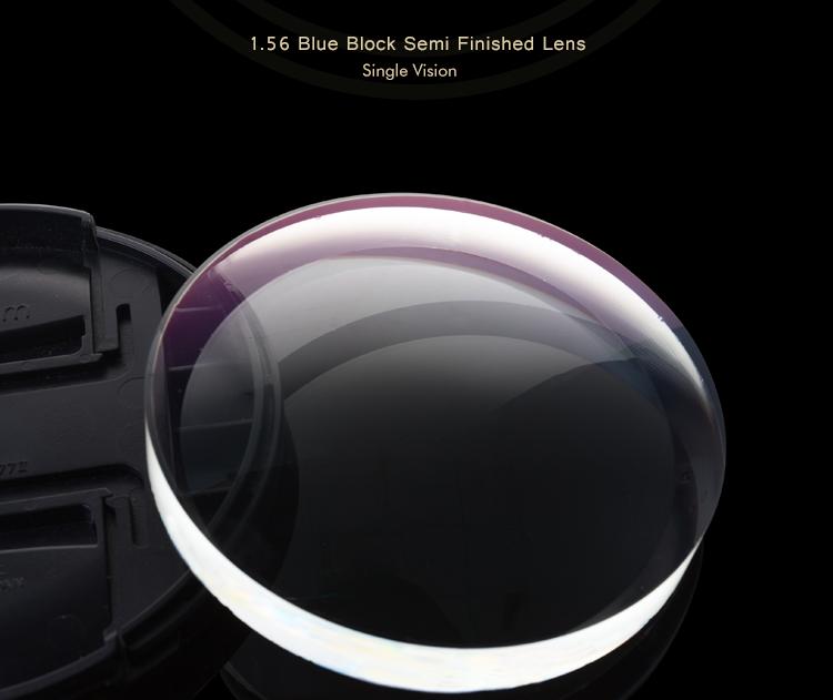 Empresa comercial índice único visión 1,56 bloque azul lente óptica fabricante