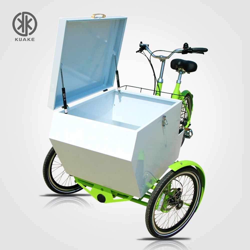KUAKE High Cost Performance Three Wheel Bicycle Cargo Electric Tricycle 24 Inch 36V 350W Electric Trike