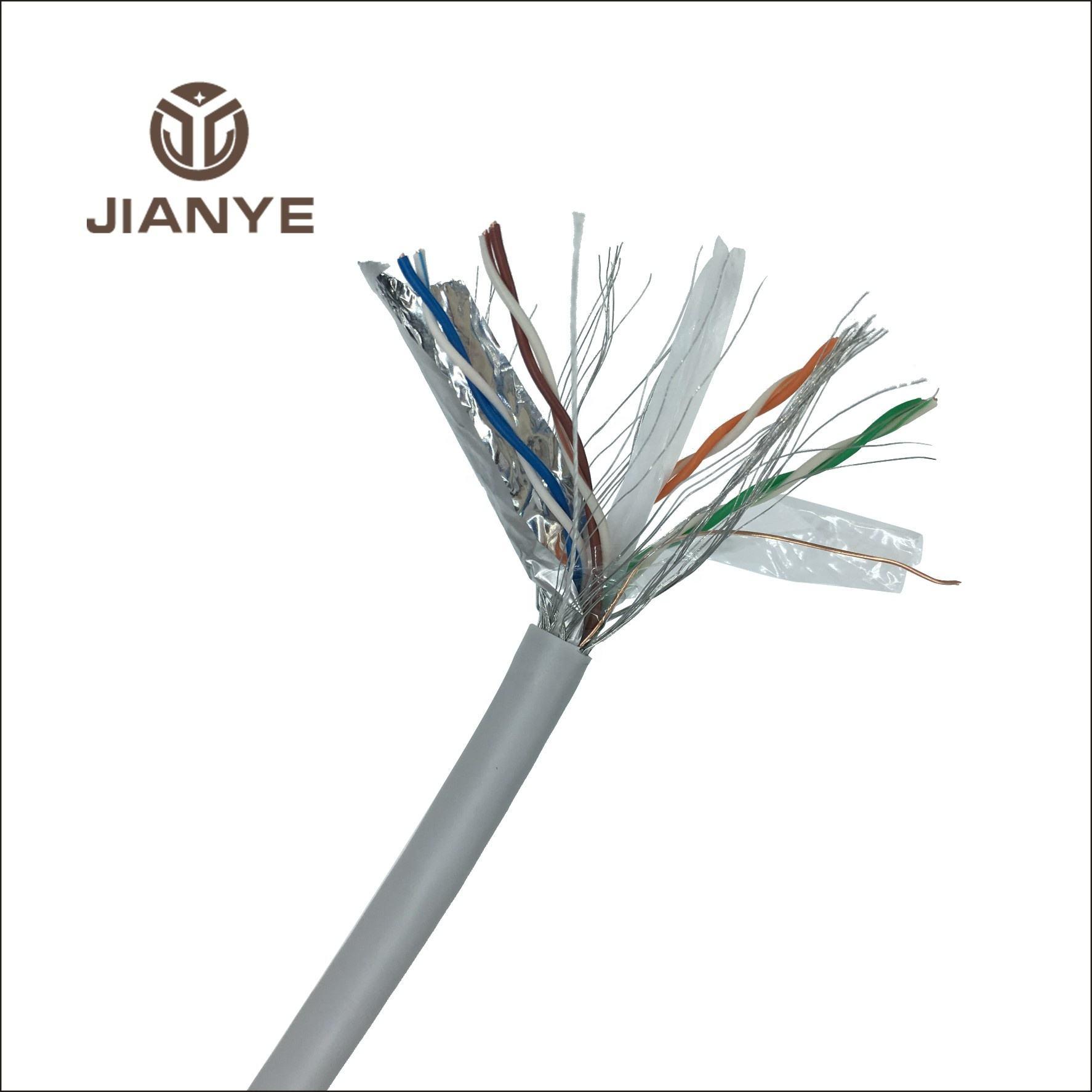 Lan cable sftp 24 AWG 4 pares/Cobre/cca cat6 Lan Cable para la red de Internet CCTV cámara de seguridad