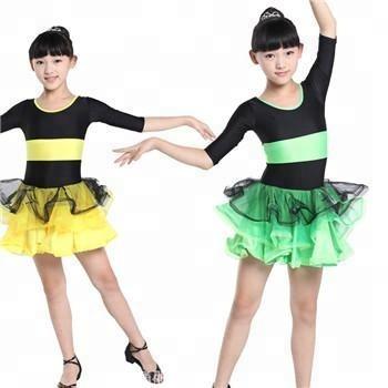 卸売女の子子供サルサ社交ダンスドレスパフォーマンス