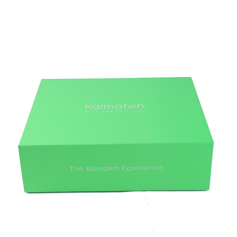 Custom colored printed luxury green makeup cosmetics paper shipping box for gift packaging