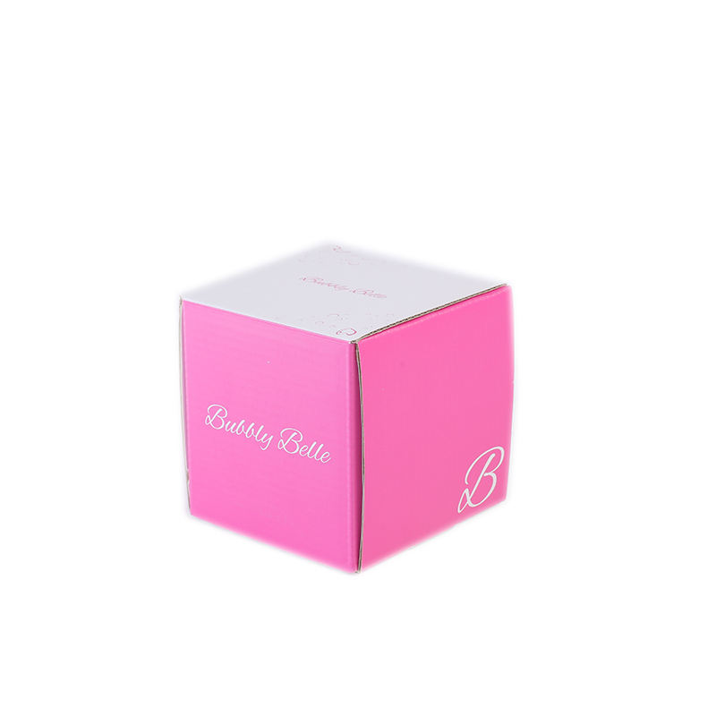 Luxury make up custom logo printed corrugated paper shipping box for gift packaging