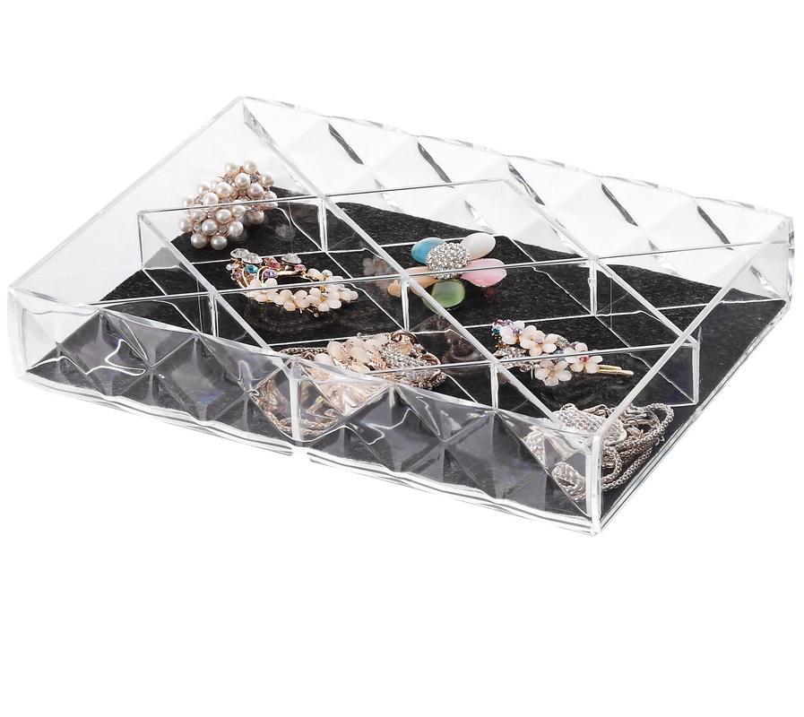 Organizzatore di decorazioni in gioielli di lusso con <span class=keywords><strong>12</strong></span> scomparti amovibili per ornamenti, orecchini, ripostigli per la vendita