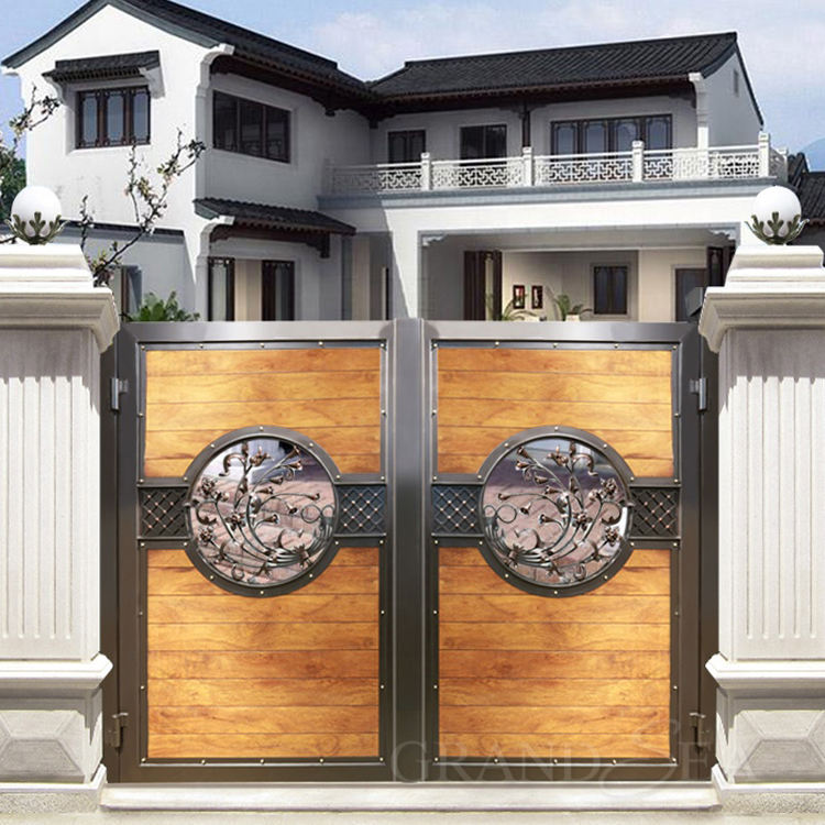 Luxury Design High Quality House Main Entrance Wrought Iron Double Gate Design