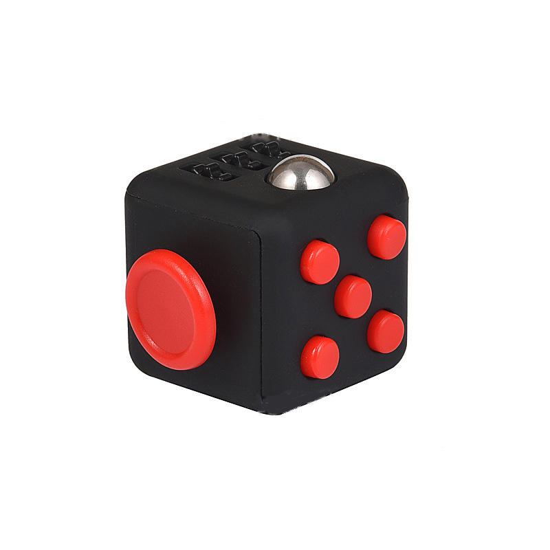Fidget Cube Promotional 6 Sides Rubber Silicone exercise custom dice