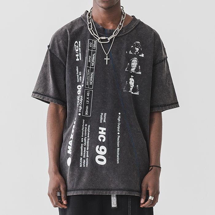 diseño gráfico de la calle desgaste t camisa de impresión de camisetas de hiphop para hombres gráfico hip hop camisetas
