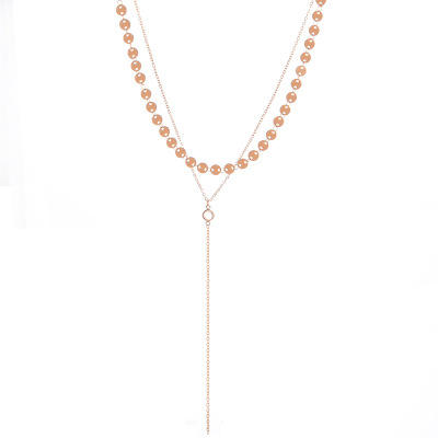 Simple style Européen Volkswagen <span class=keywords><strong>collier</strong></span> diamants cuivre paillettes <span class=keywords><strong>clignotant</strong></span> diamants et gland <span class=keywords><strong>collier</strong></span>