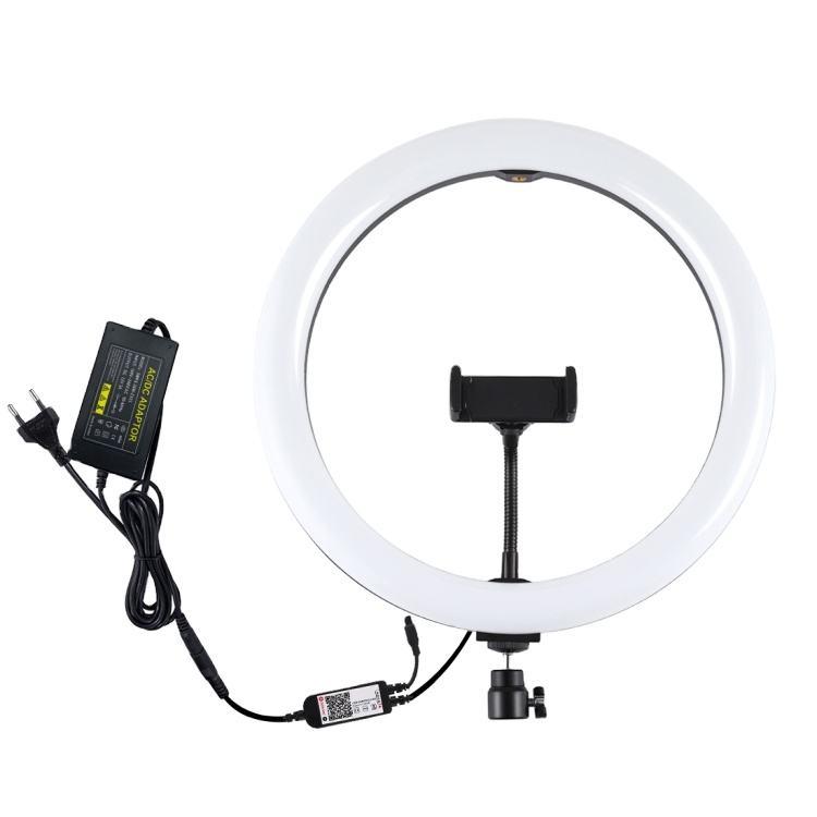 مصابيح إضاءة بلوز 12 بوصة RGB عاكسة للضوء مزودة بمصابيح LED للصور الذاتية والفيديو