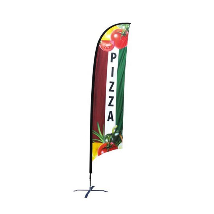 2019 hot style personnalisé polyester extérieur plume larme promotionnel normal plage drapeau bannière avec pôle