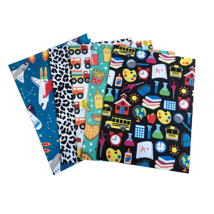 animal / flowers / printed color felt fabric with cheap price
