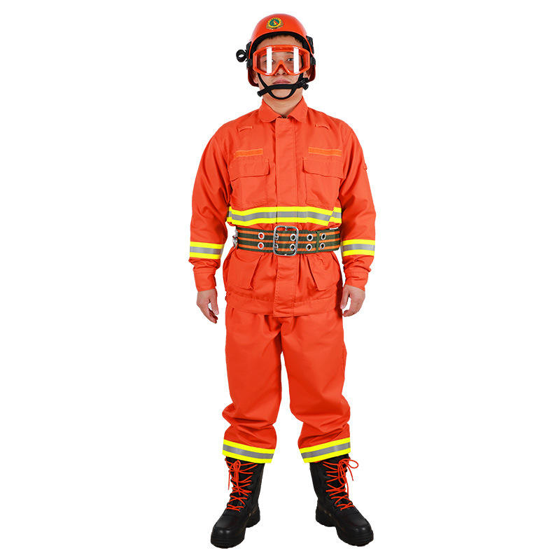 factory wholesale men high quality orange red forest fire prevention daily inspection and maintenance suits