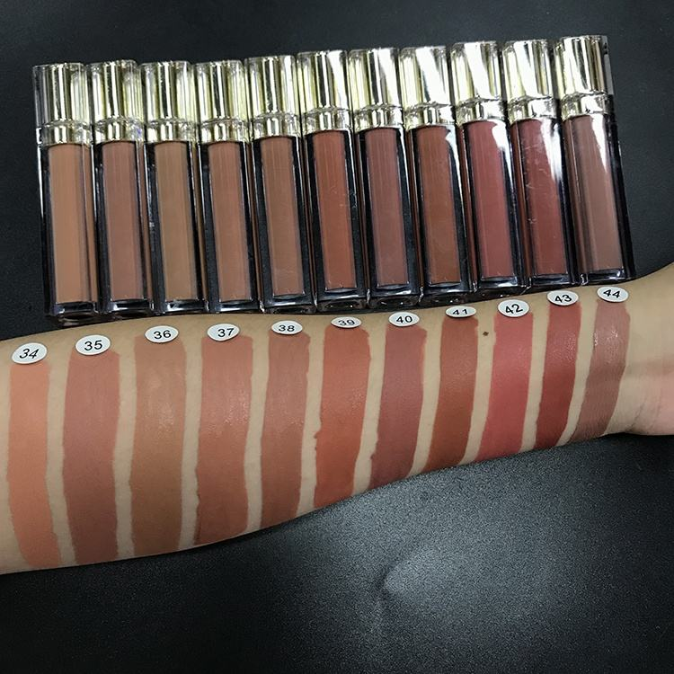 High pigment private label lipgloss base long lasting no label vegan lipgloss