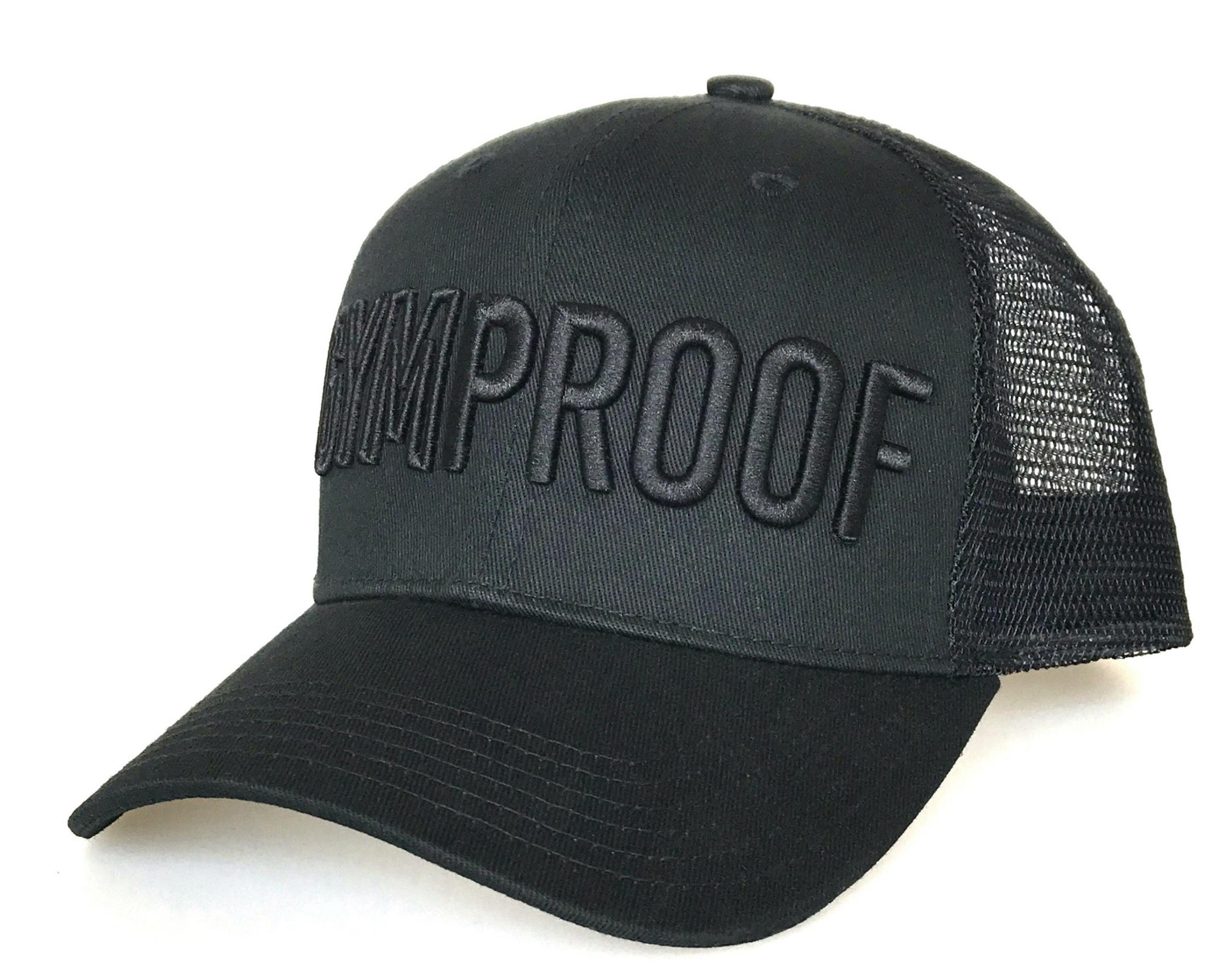 Hiphop de moda de color negro sombrero de camionero con negro 3D logotipo bordado sombrero de malla