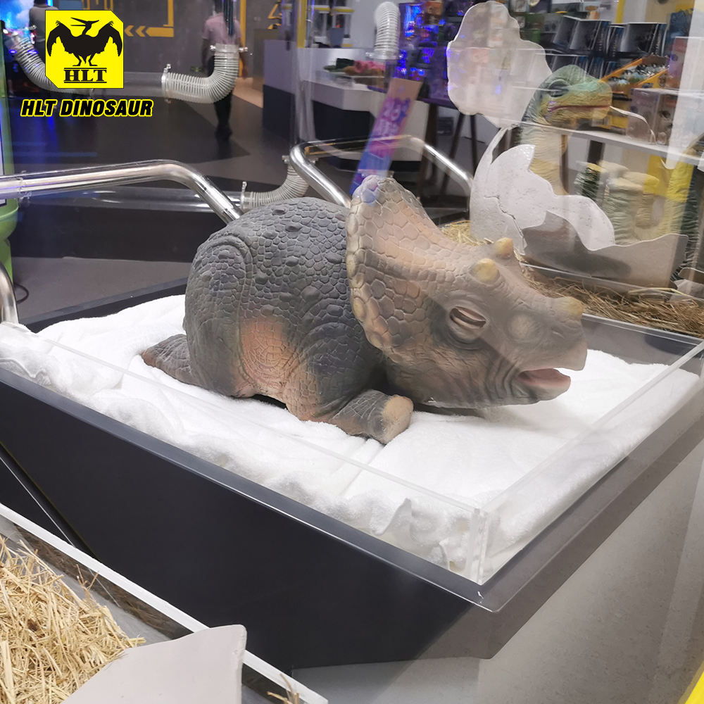 Animatronic dinosaurier <span class=keywords><strong>ei</strong></span> puppe baby Triceratops prop