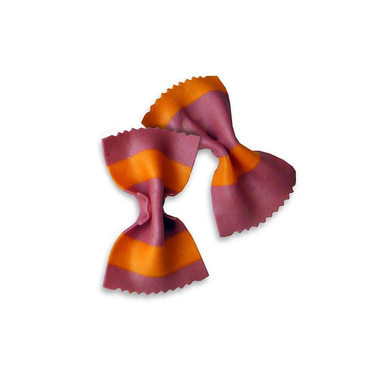 Italian Durum Wheat Semolina Pasta Red And Orange Giant Bow Tie Noodles Pasta