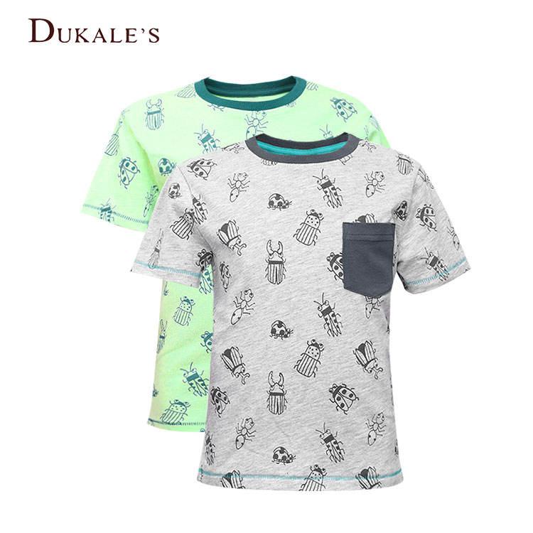 виде героя мультфильма для малышей, простые окрашенные AOP Детская Хлопковая футболка с овальным вырезом для мальчиков на лето