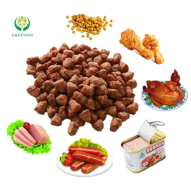 Grefood TVP vegetarian meat sausage TSP Kung Pao Chicken raw material Textured Soy Protein wholesale vegetable protein