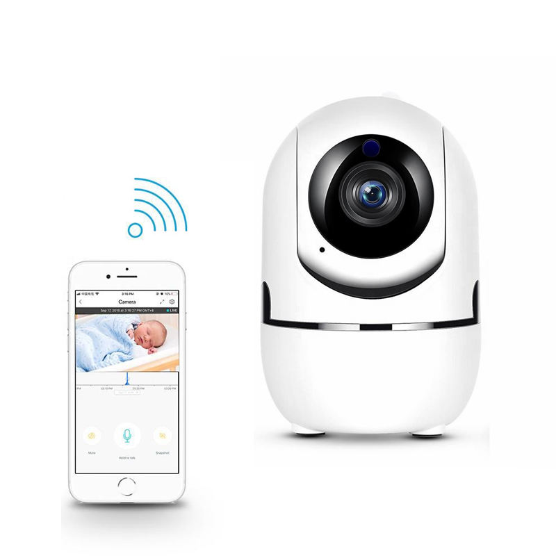 HD Wifi IP Home Camera Wireless Two-way Audio Smart Wifi Baby Monitor Camera 1080P Automatic Tracking Pet Camera With Monitor