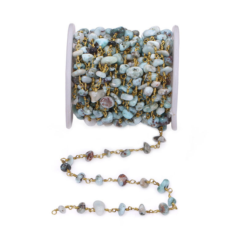 3.28feet Wholesale Natural White Pearl Beaded Chains for Choker Jewelry,Cubic Zircon Bead Rosary Chain,Freshwater Pearl CZ Chain Findings