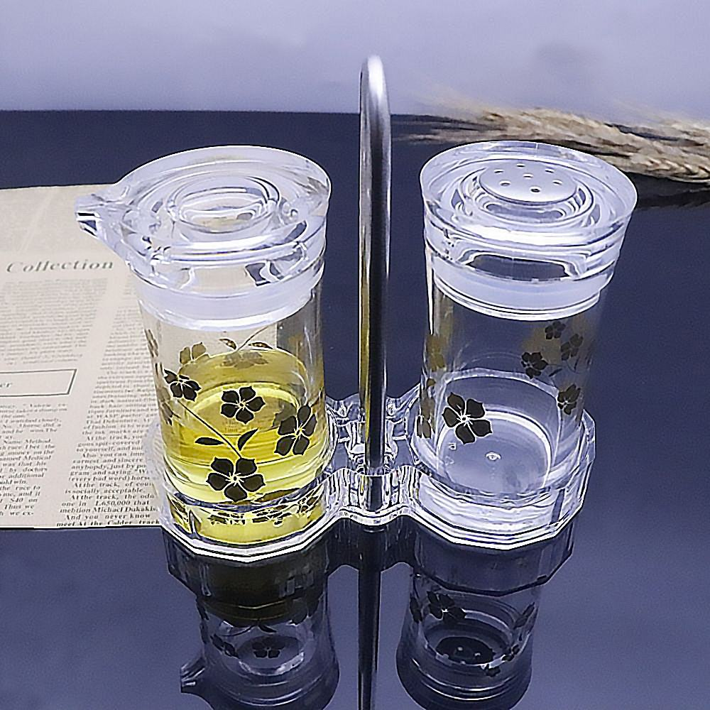 Venda quente garrafa de azeite de vidro Acrílico Transparente? uma garrafa de <span class=keywords><strong>vinagre</strong></span> para recipiente de óleo de cozinha