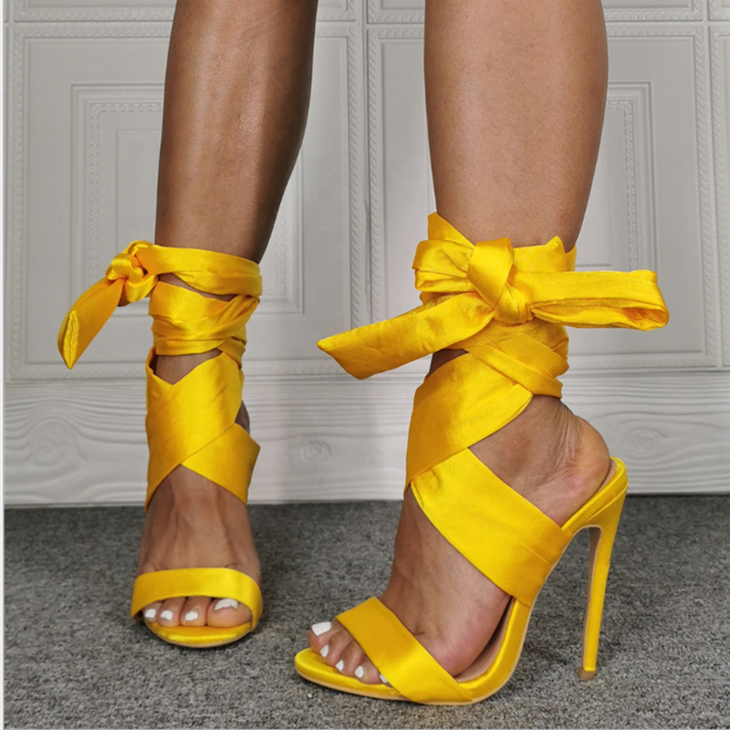 Women Open Toe Feather High Block Heels Shoes Sandals Buckle Rome Leisure Daily