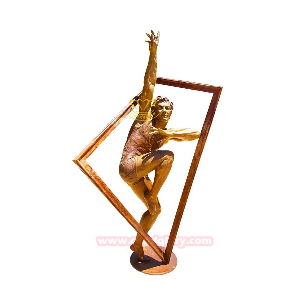 De artesanías de Metal decoración de jardín de <span class=keywords><strong>latón</strong></span> de <span class=keywords><strong>bronce</strong></span> hombre figura estatua