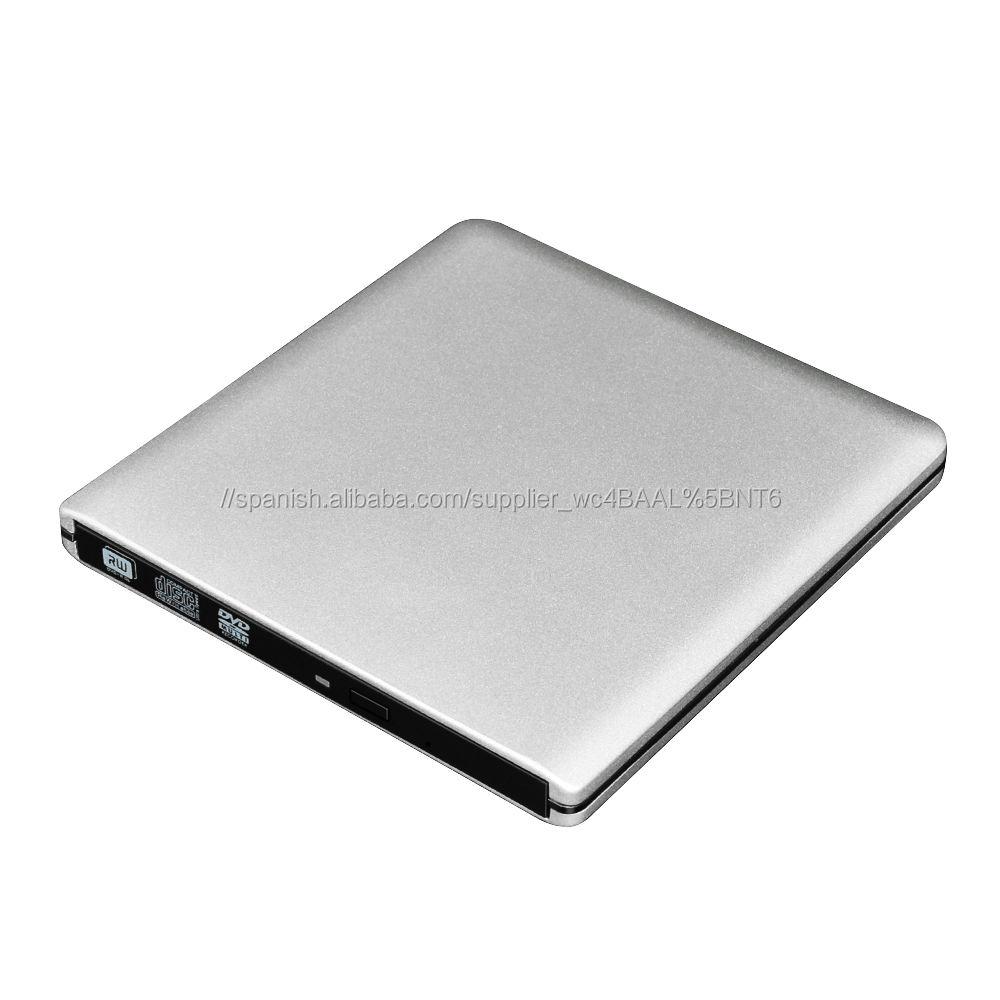 Unidad grabadora de DVD USB 3,0 Unidad óptica externa REPRODUCTOR DE CD-ROM grabador de CD/DVD RW