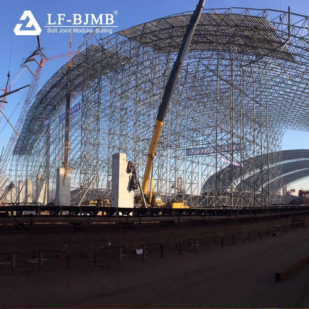 Xuzhou SI préfabriqués Q235 Q345 espace cadre entrepôt BS JIS EN ES AUS GB ASTM Standard de structure EN acier de construction