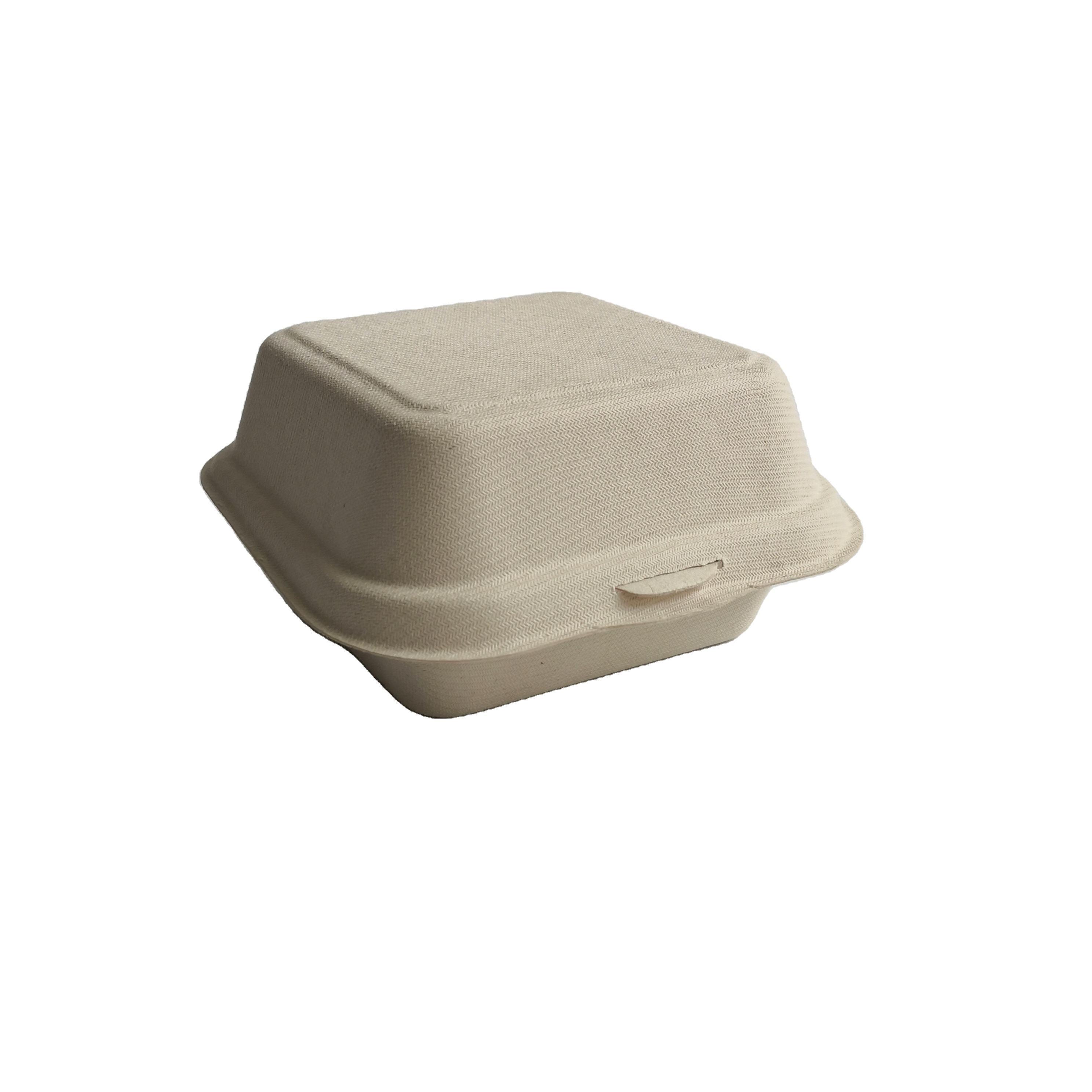 Paglia di grano <span class=keywords><strong>Canna</strong></span> Da Zucchero 5 Pollici 6 Pollici Biodegradabile Usa E Getta Hamburger Contenitore di Carta Pasta