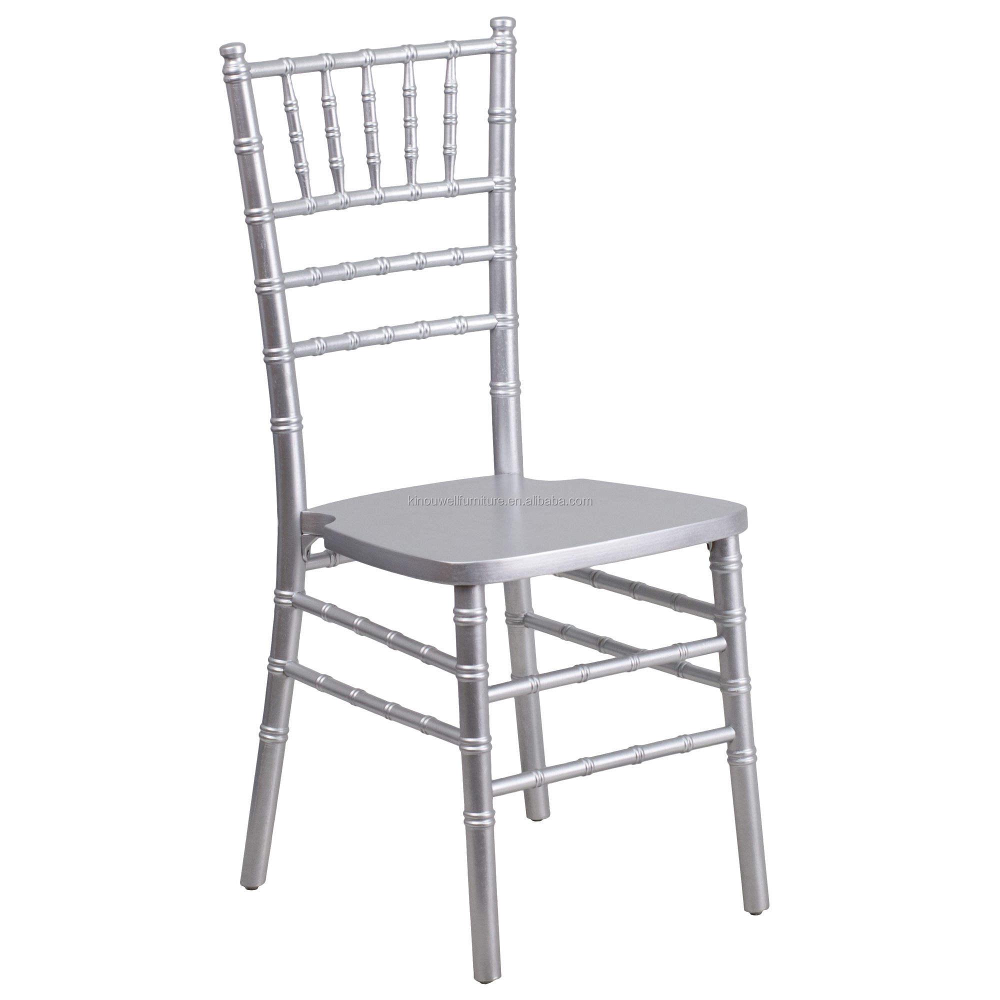 Prata metal stackable tiffany <span class=keywords><strong>chiavari</strong></span> evento salão cadeira de jantar