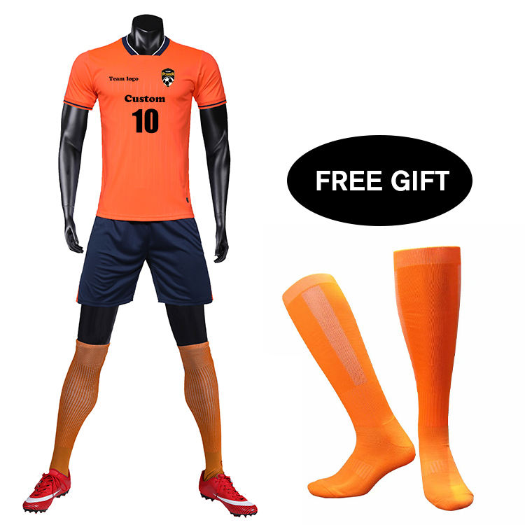 Оранжевый обычный футбол одежда Пользовательские Футбол Топы Джерси Испания Джерси футбол