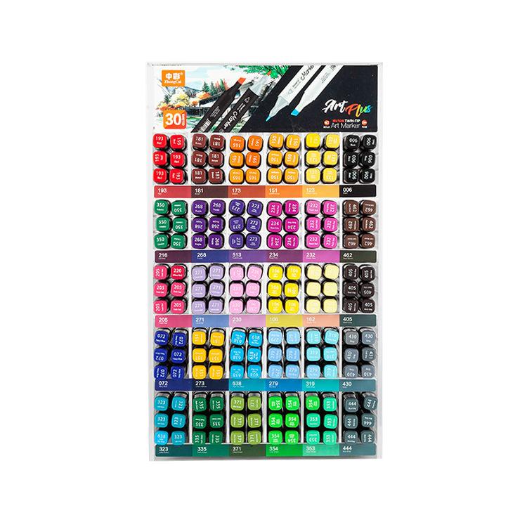 180 шт/30 цветов прозрачный акриловый треугольной формы художественные маркеры подставка держатель Косметическая кисть дисплей