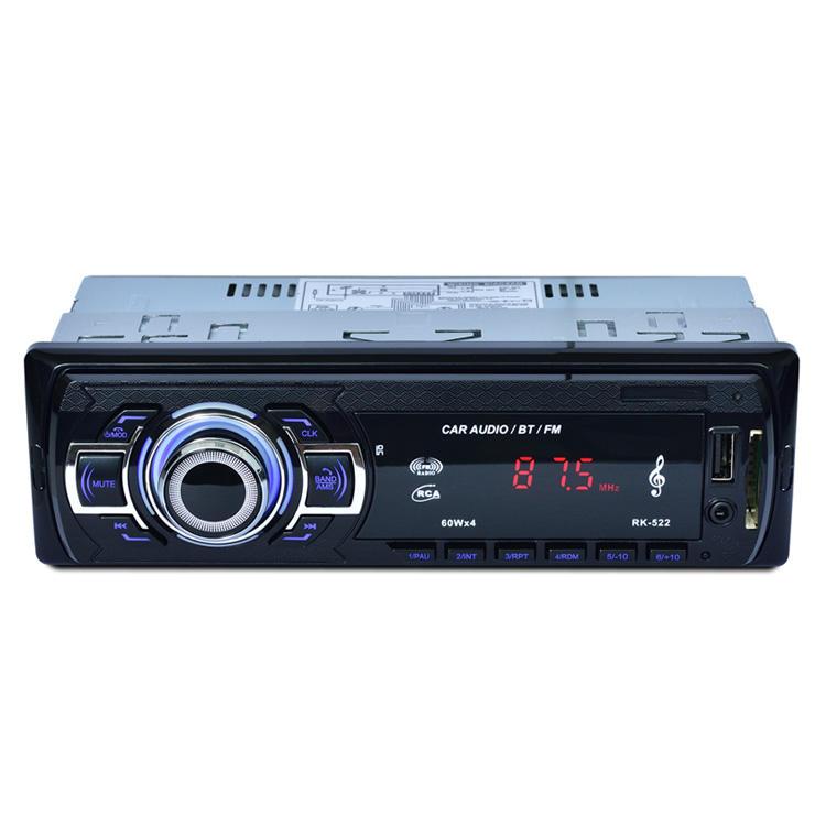 ستيريو للسيارة مذياع آلي <span class=keywords><strong>بلوتوث</strong></span> <span class=keywords><strong>V2</strong></span>.0 12 فولت في اندفاعة <span class=keywords><strong>1</strong></span> Din FM Aux مدخل استقبال SD USB MP3 MMC WMA مشغل صوت للسيارة RK-523