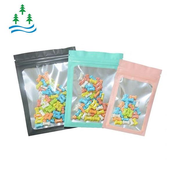 Kundenspezifische matte glänzende Reißverschlusstasche aus Kunststoff mit klarer Seite für das Digital Snack Peanut Package