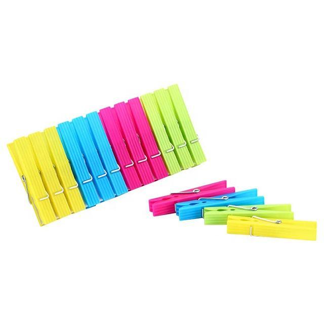 Набор из 24 шт. цветного пластика прищепки