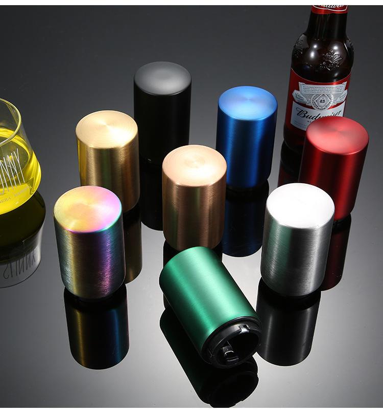 Abrelatas automático del oso de la tapa de la botella del empuje hacia abajo magnético del acero inoxidable del uso fácil
