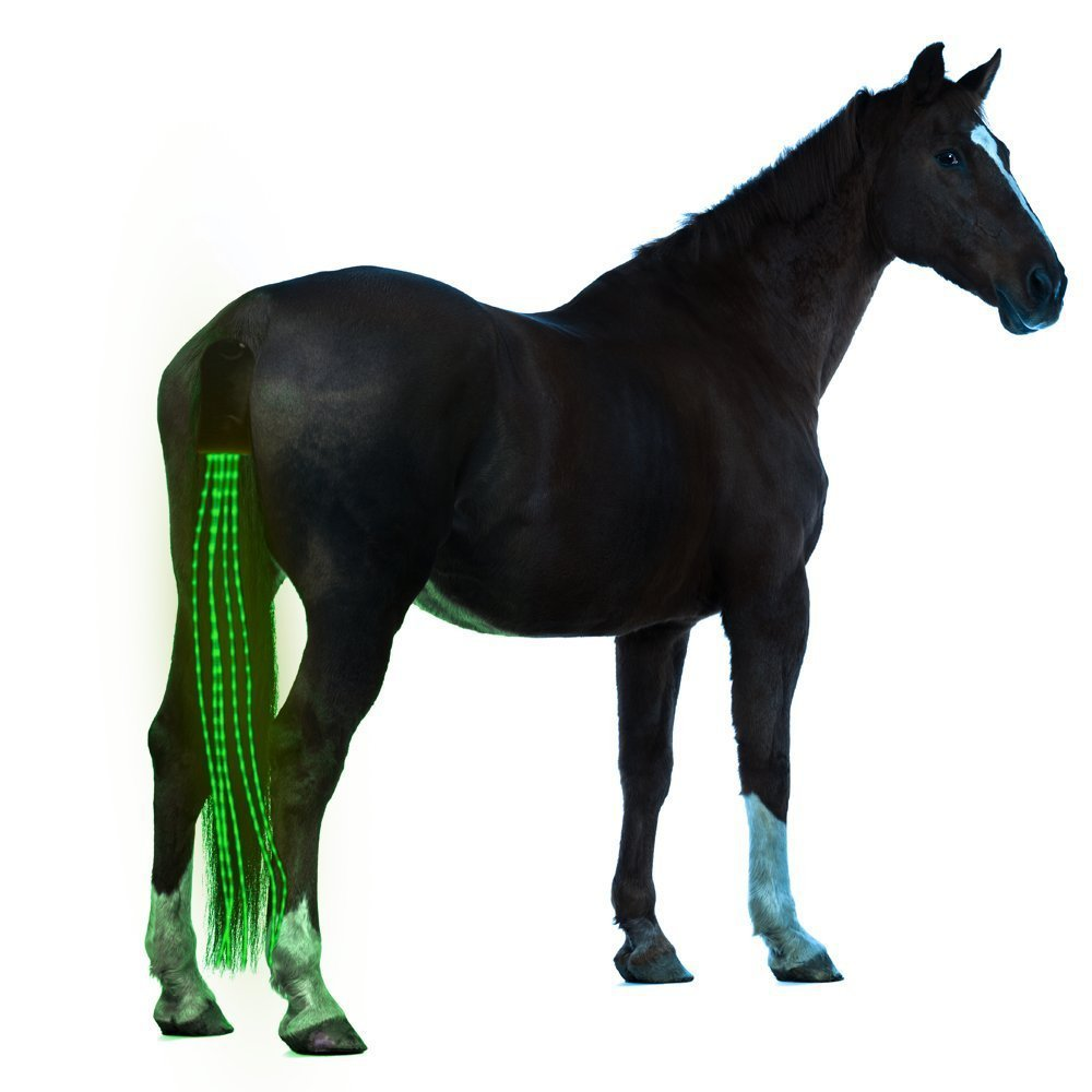 Outdoor Sports Harness Equestrian Supplies USB Charging LED Lighting Horsetail With Decorative Lights