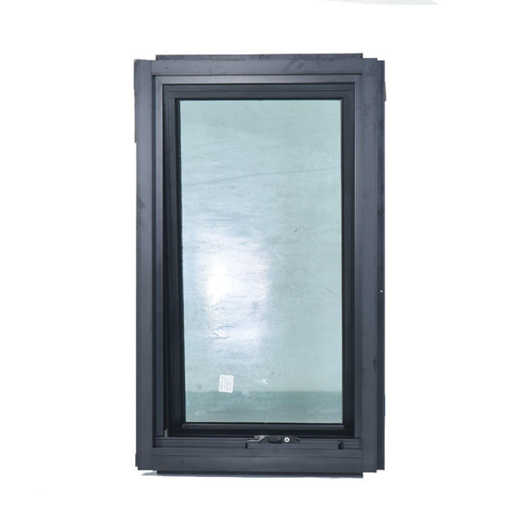 fashionable frameless aluminium awning window system for terrace use with nice view